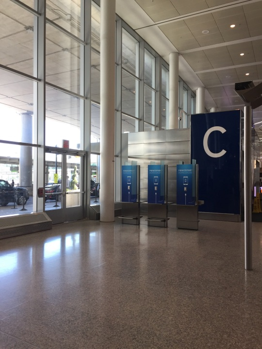 View of charging stations in YYZ Terminal 1, International Arrivals. Photo: K.R.White (June 2018)