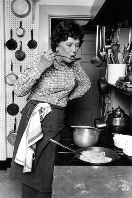 Julia Child in her kitchen was the subject of a design research project by Bill Stumpf in DQ#104